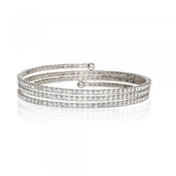 Ingenious silver wrap around bracelet
