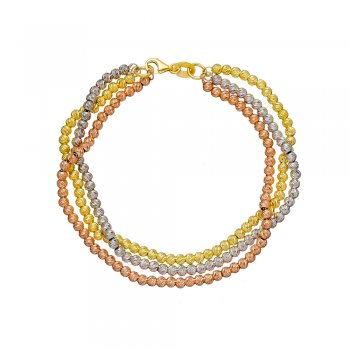 Ingenious tri coloured Italian beaded bracelet