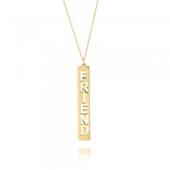 Ingenious gold necklace with friend tag