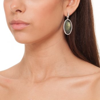Ingenious silver earrings with mother of pearl centre
