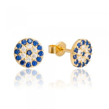 Ingenious gold earrings with tiny evil eye