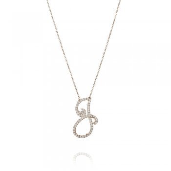 Ingenious silver pave letter G necklace