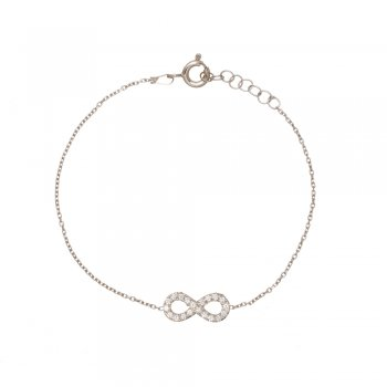 Ingenious silver bracelet with small infinity sign