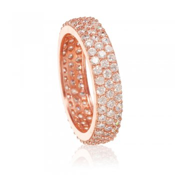 Ingenious rose gold pave stacking ring
