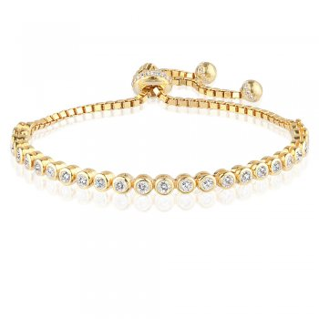 Ingenious gold adjustable tennis bracelet