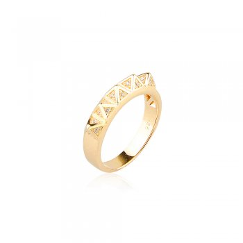 Ingenious Gold ring with multi pyramids
