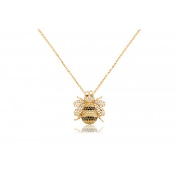 Ingenious gold necklace with bee pendant