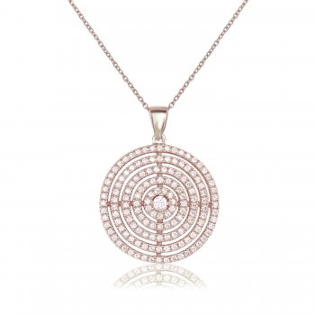 Ingenious Silver multi circle necklace