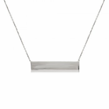 Ingenious Silver necklace with polished wide bar