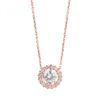 Ingenious rose gold ingenious classic cystal necklace