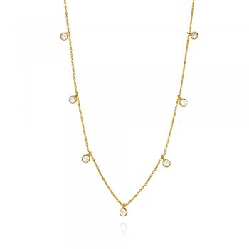 Ingenious Gold necklace with hanging diamond by the yard