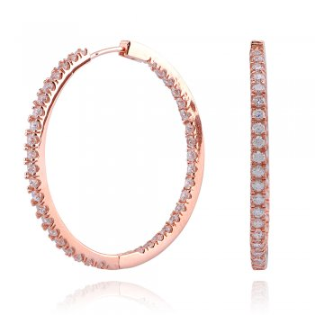 Ingenious Rose gold hoop earring