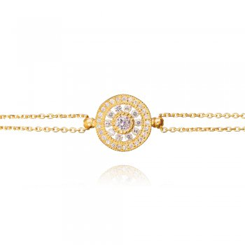 Ingenious Gold antique circle bracelet