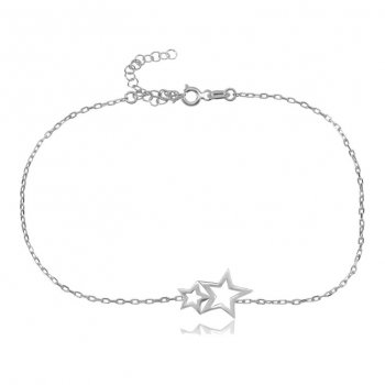 Ingenious Silver bracelet with plain stars