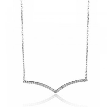 Ingenious Silver necklace with small V shaped pendant