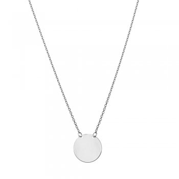 Ingenious Silver disc necklace