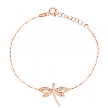 Rose gold dragonfly bracelet