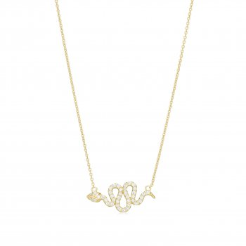 Ingenious Gold necklace with snake charm