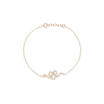 Ingenious Rose gold bracelet with snake charm