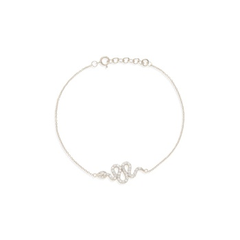 Ingenious Silver bracelet with snake charm