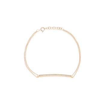 Ingenious Rose gold bracelet with pave bar
