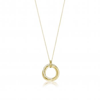 Ingenious Gold open circle necklace with interconnecting circles