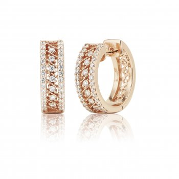 Ingenious Rose gold small hoop earrings