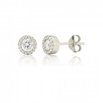 Ingenious Silver stud earrings