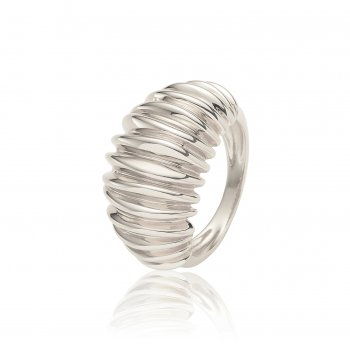 Ingenious Silver dome ring