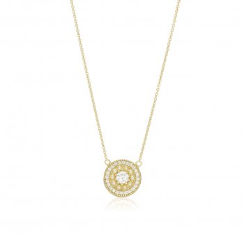 Ingenious Gold necklace with surrounding pearls