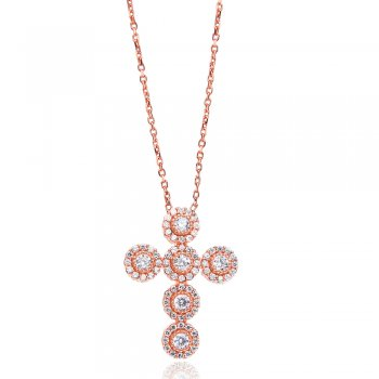 Ingenious Rose gold necklace with cross pendant