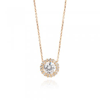 Ingenious Gold necklace with classic crystal pendant