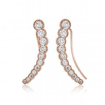 Ingenious Rose gold ear climber with multi stones