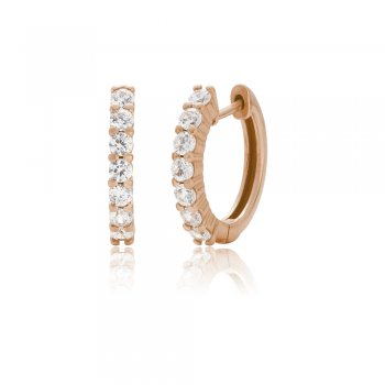 Ingenious Rose gold hoop earrings