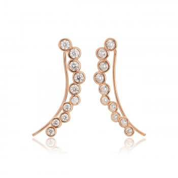 Ingenious Rose gold ear climbers