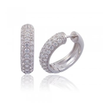 Ingenious Silver hoop huggie earrings