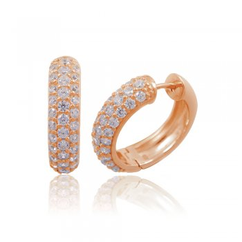 Ingenious Rose gold hoop huggie earrings