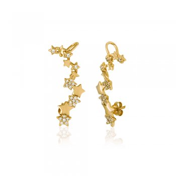 Ingenious Gold ear cuff with stars