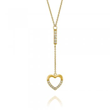 Ingenious Gold necklace with hanging heart