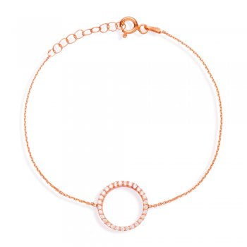 Ingenious Rose gold bracelet with open pave circle