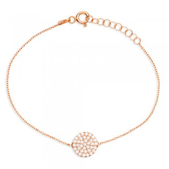Ingenious Rose gold bracelet with pave circle
