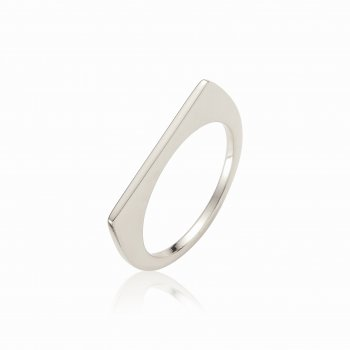 Ingenious Silver ring with bar