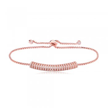 Ingenious Rose gold adjustable bracelet with small bar