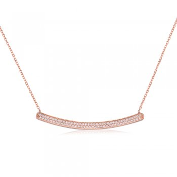 Ingenious Rose gold necklace with curved bar