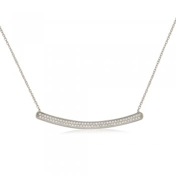 Ingenious Silver necklace with curved bar
