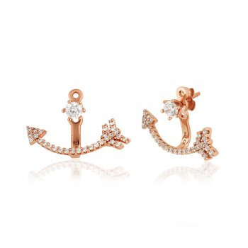 Ingenious Rose Gold ear jacket with arrow
