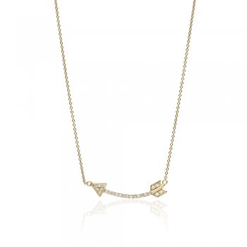 Ingenious Gold necklace with arrow