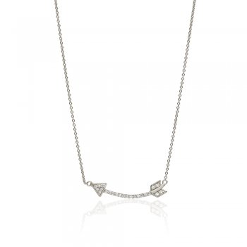 Ingenious Silver necklace with arrow