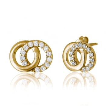 Ingenious Gold earrings with interlinking circles