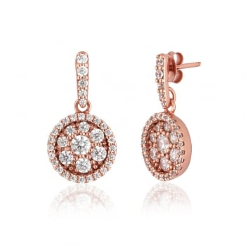 Ingenious Rose gold drop circle earrings